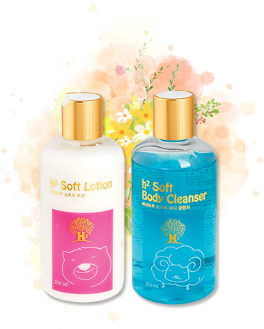 h2 Soft Lotion, h2 Soft Body Cleanser